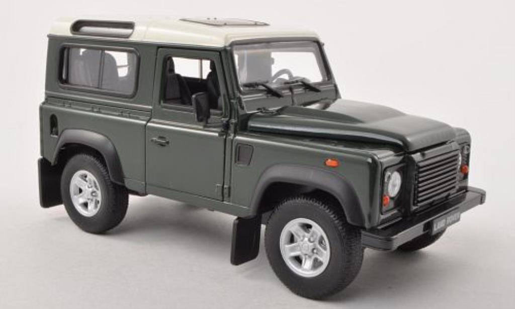 Land Rover Defender 1/24 Welly grun/bianco modellino in miniatura
