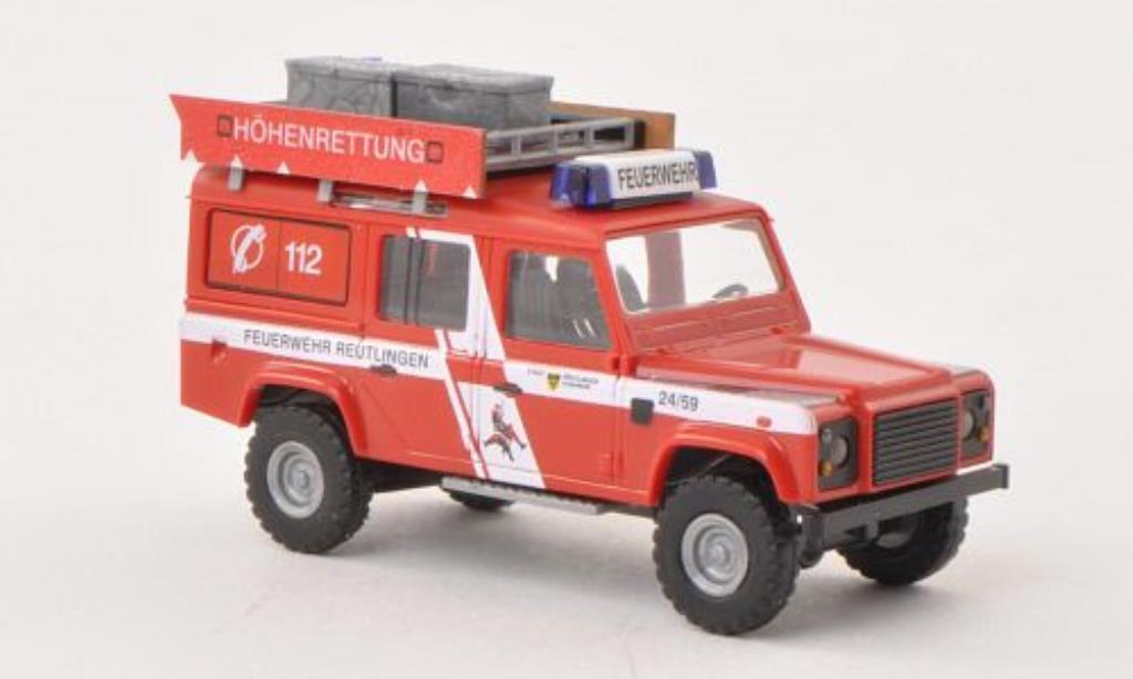 Land Rover Defender 1/87 Busch Hohenrettung Feuerwehr Reutlingen diecast model cars