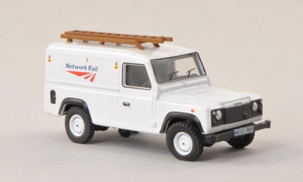 Land Rover Defender 1/76 Oxford Kasten Network Rail miniatura
