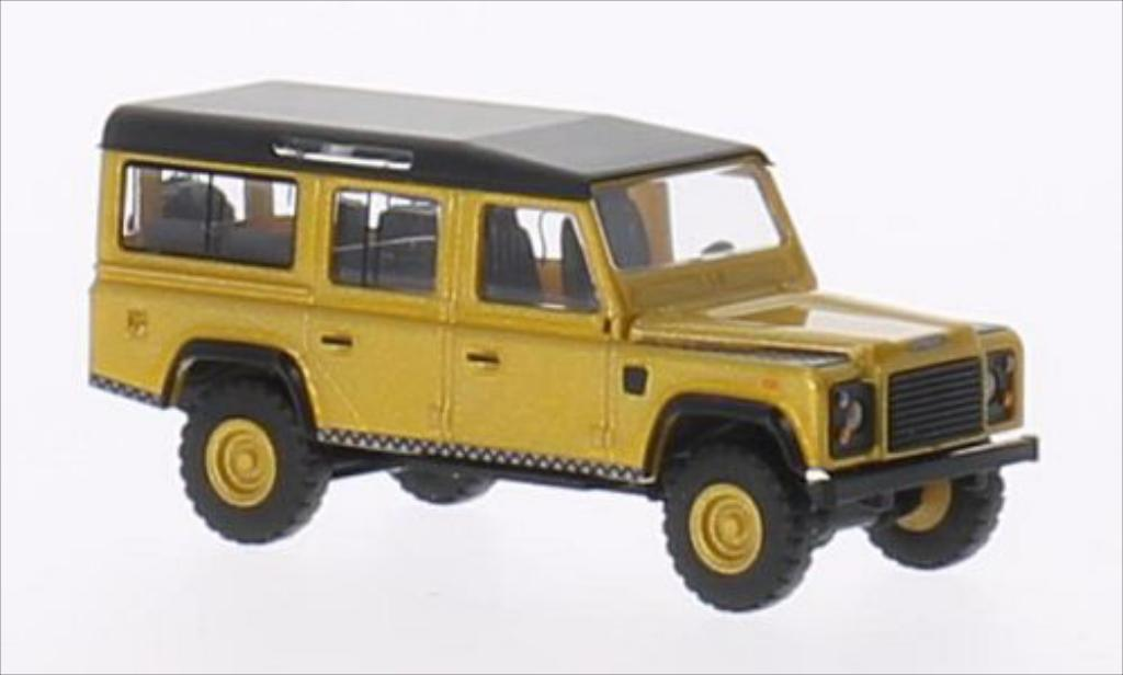Land Rover Defender 1/87 Busch metallic-gold/matt-nero miniatura