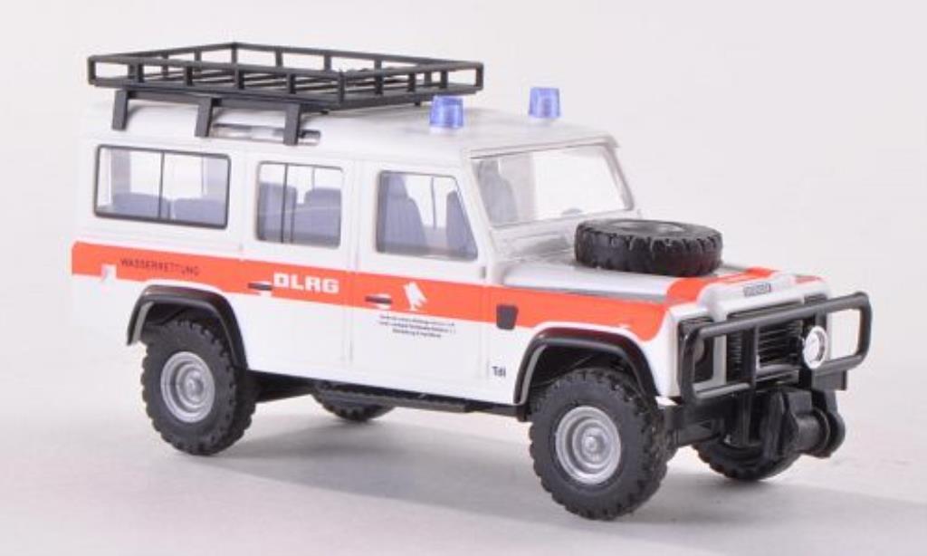 Land Rover Defender 1/87 Busch mit Dachgepacktrager DLRG 1983 modellino in miniatura