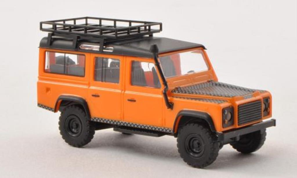 Land Rover Defender 1/87 Busch orange/matt-noire 1983 miniature