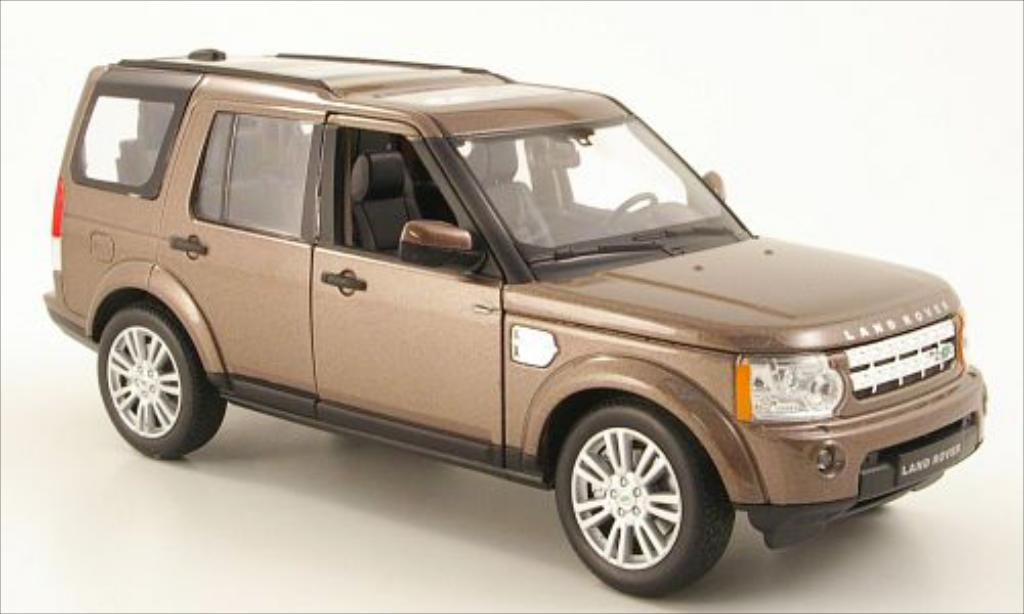 Land Rover Discovery 1/24 Welly 4 metallise marron miniature