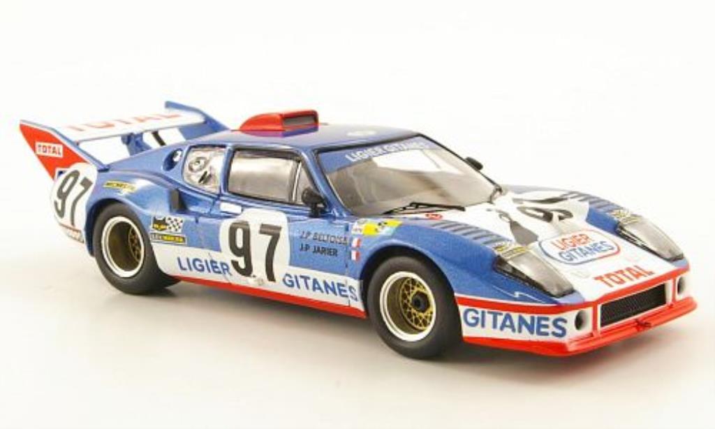 Ligier JS2 1/43 IXO No.97 Ligier Gitanes 24h Le Mans 1975 miniature