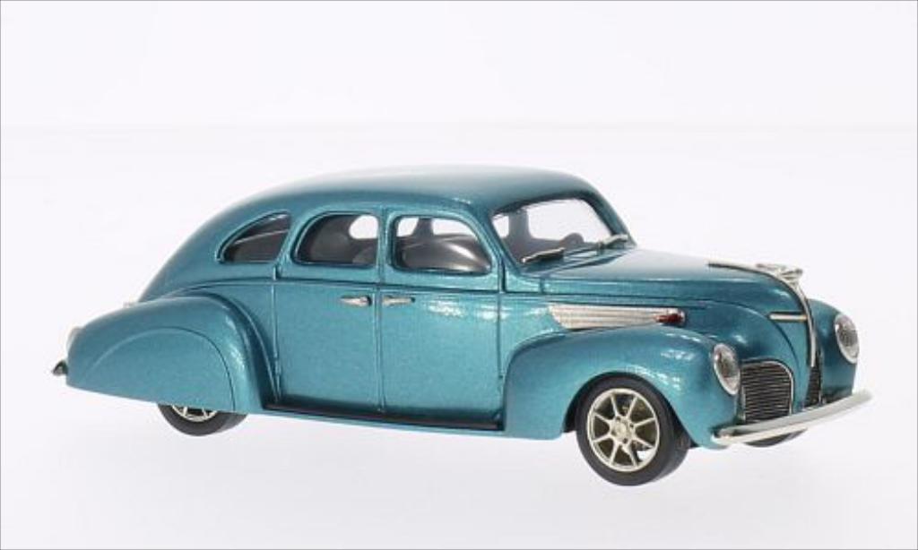 Lincoln Zephyr 1/43 Brooklin 4-door metallic-turquoise 1938 diecast