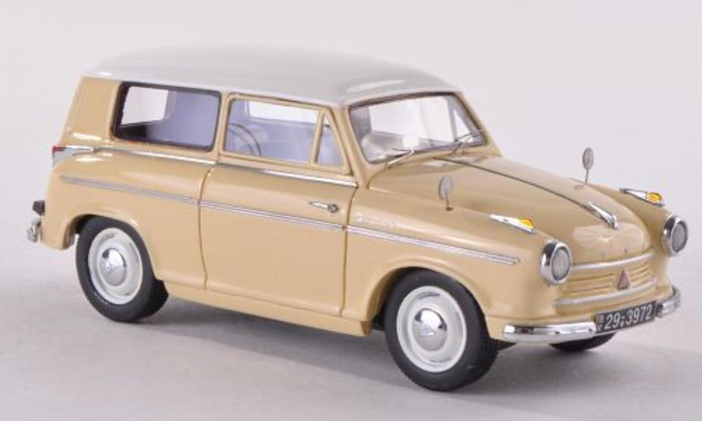 Lloyd Alexander 1/43 Neo Kombi beige/blanche 1958 miniature