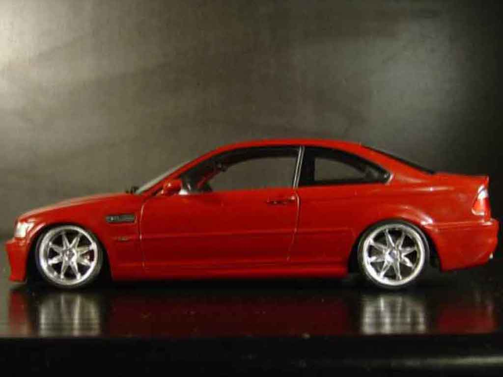Bmw M3 E46 1/18 Kyosho tuning red jantes alu