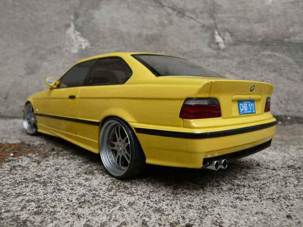 Bmw M3 E36 1/18 Ut Models jaune jantes alu tuning miniature