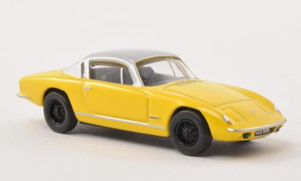 Lotus Elan 1/76 Oxford Plus 2 jaune/grise RHD miniature