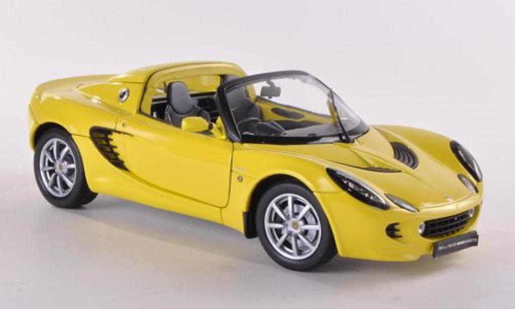 Lotus Elise 111S 1/18 Welly yellow 2003 diecast model cars