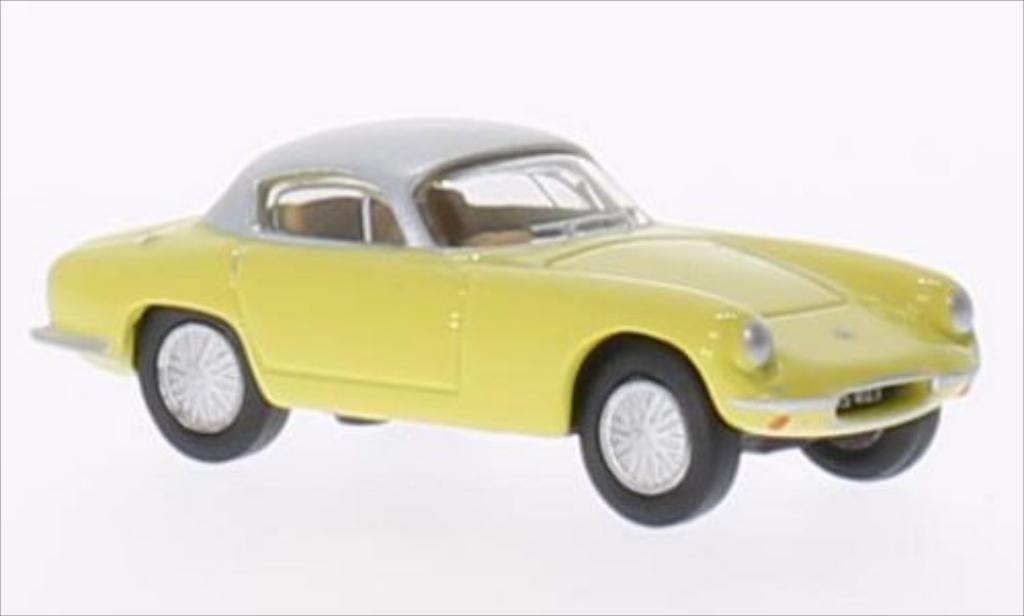 Lotus Elite 1/76 Oxford jaune/grise RHD miniature