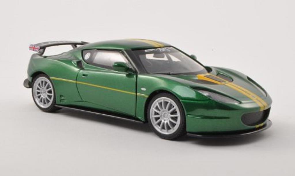 Lotus Evora GT4 1/24 Motormax grun/jaune miniature