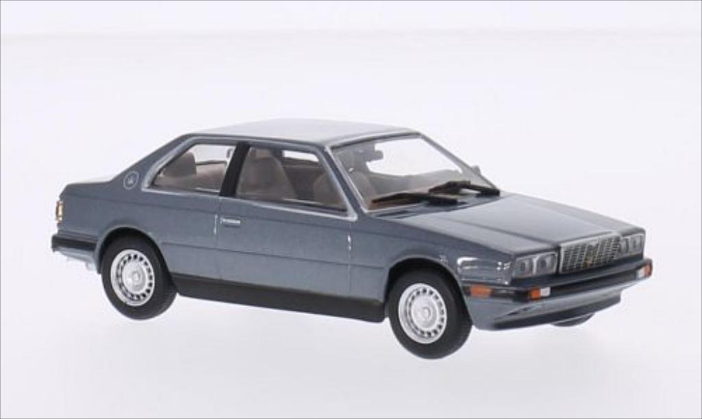 Maserati Biturbo 1/43 WhiteBox metallic-gray diecast