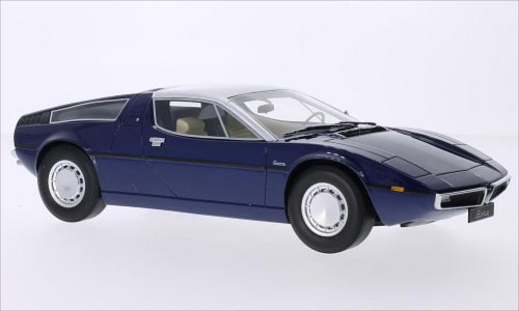 Maserati Bora 1/18 Minichamps metallise bleu/grise 1970 miniature
