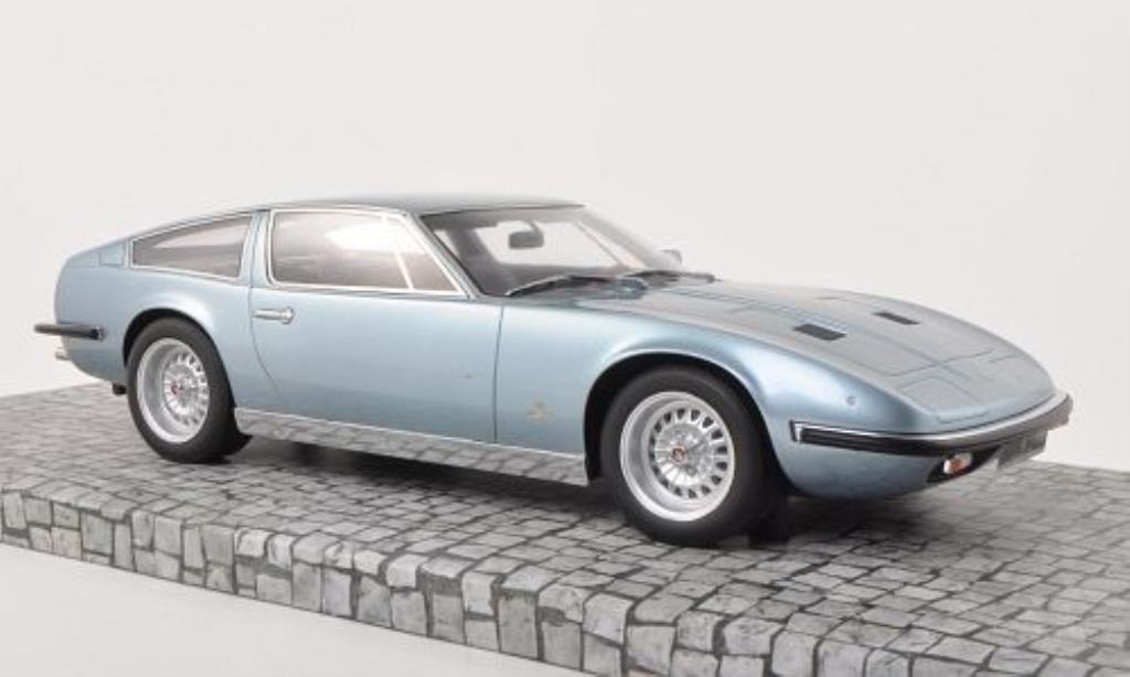 Maserati Indy 1/18 Minichamps bleu 1970 miniature