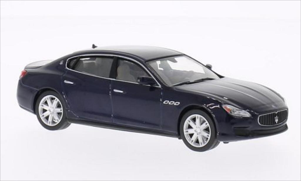Maserati Quattroporte 1/43 WhiteBox GTS metallise bleu 2013 miniature