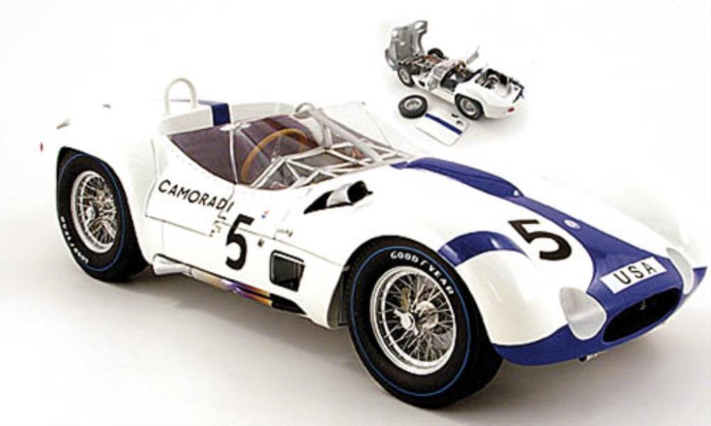 Maserati Tipo 1/12 Minichamps 61 No.5 Camoradi 1000 km Nurburgring 1960 / D.Gurney miniature