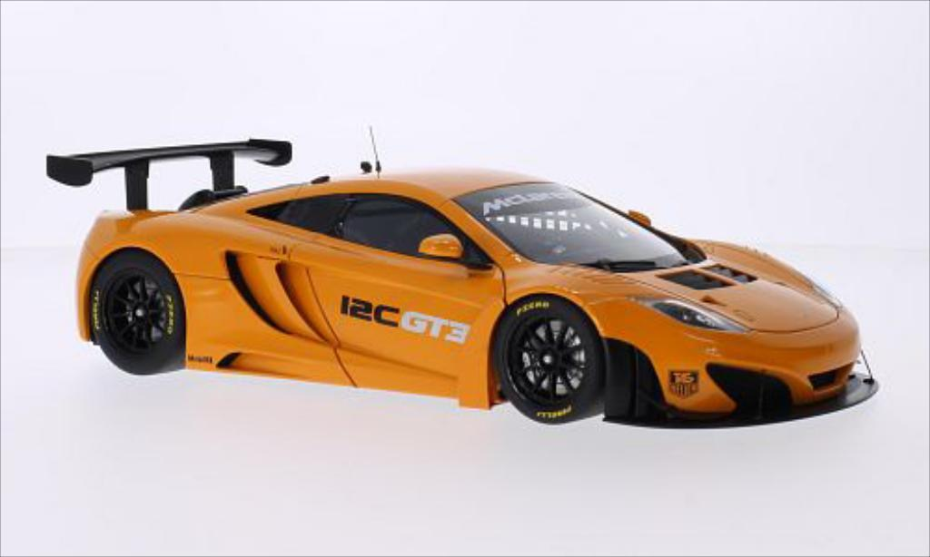 McLaren MP4-12C 1/18 Autoart GT3 metallise orange RHD 2011 miniature