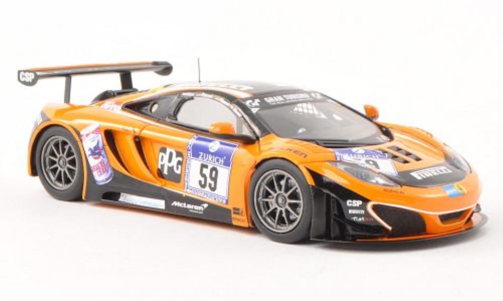 McLaren MP4-12C 1/43 Minichamps GT3 No.59 Dorr Motorsport 24h Nurburgring 2012 /Moser miniature