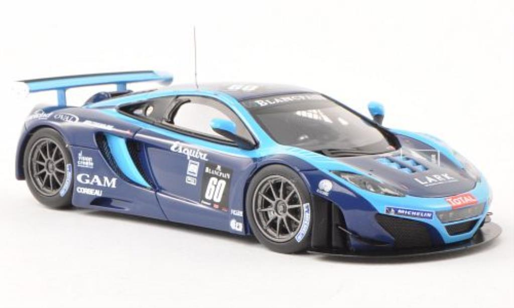 McLaren MP4-12C 1/43 Minichamps GT3 No.60 Von Ryan Racing 24h Spa 2012 /Dusseldorp miniature