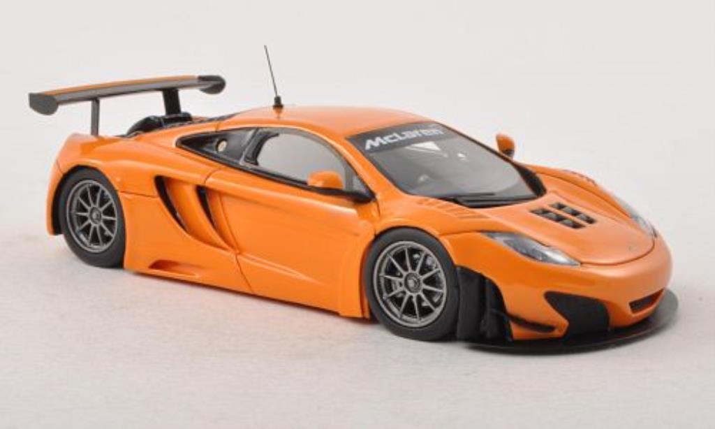 McLaren MP4-12C 1/43 Minichamps GT3 orange Plain Body Version 2012 miniature