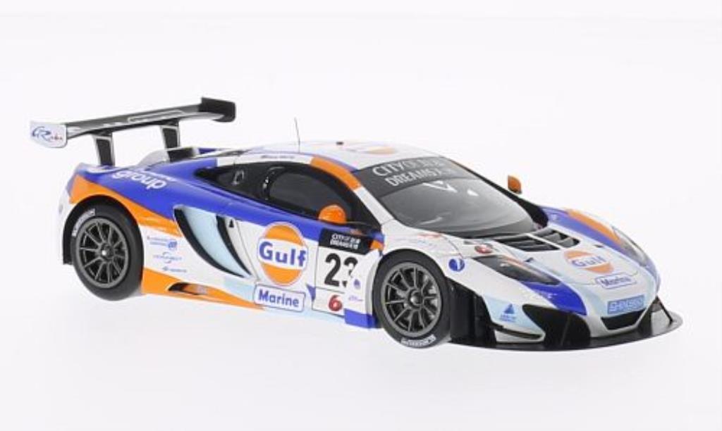 McLaren MP4-12C 1/43 Spark No.23 Gulf City of Dreams Macau GT Cup 2013 miniature