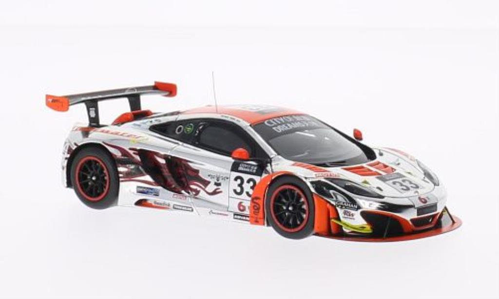 McLaren MP4-12C 1/43 Spark No.33 Clearwater Racing City of Dreams Macau GT Cup 2013 miniature