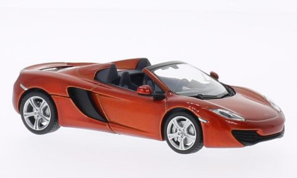 McLaren MP4-12C 1/43 Minichamps Spider orange 2012 diecast model cars