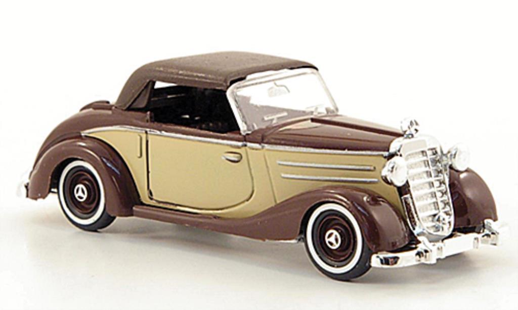Mercedes 170 1/87 Busch S Cabrio beige/marron geschlossen 1949 miniature
