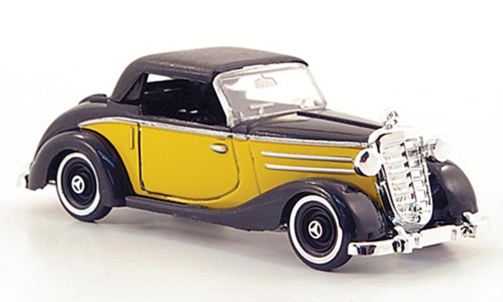 Mercedes 170 1/87 Busch S Cabrio jaune/noire geschlossen 1949 miniature
