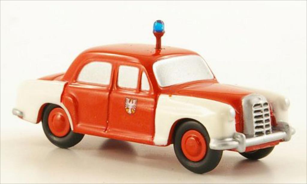 Mercedes 180 1/90 Schuco Ponton Feuerwehr Frankfurt miniature