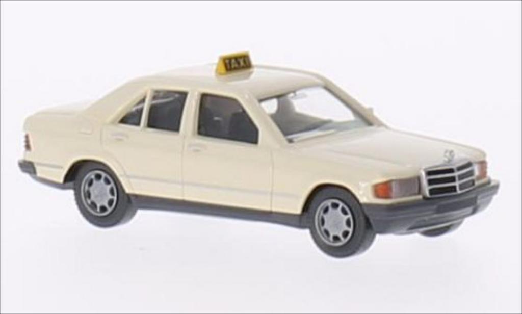 Mercedes 190 D 1/87 Wiking (W201) beige Taxi (D) miniatura