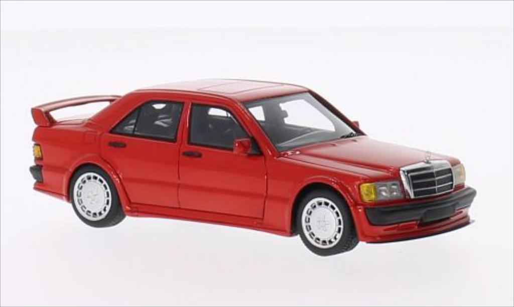 Mercedes 190 E 1/43 Minichamps E (W201) 2.5-16 EVO 1 rouge 1990 miniature