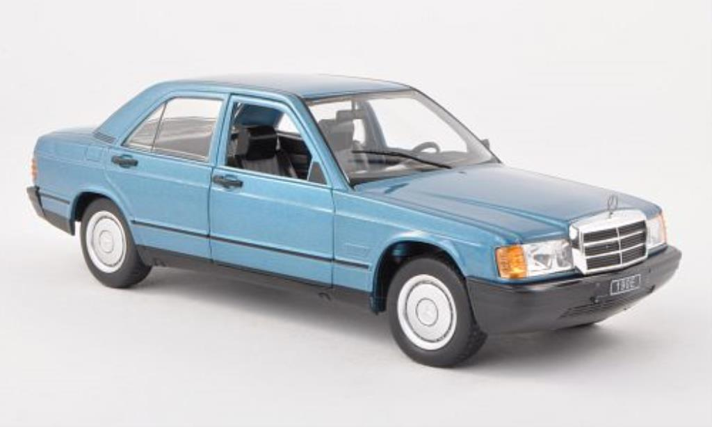 Mercedes 190 E 1/24 WhiteBox E (W201) bleu 1983 miniature