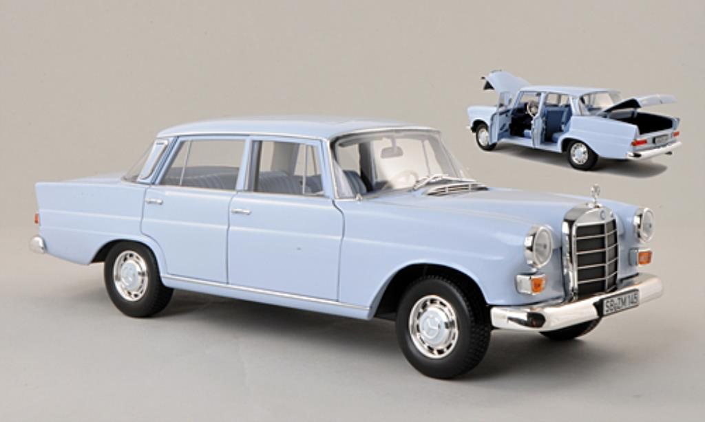 Mercedes 200 1/18 Norev (W110) bleu 1966 diecast model cars