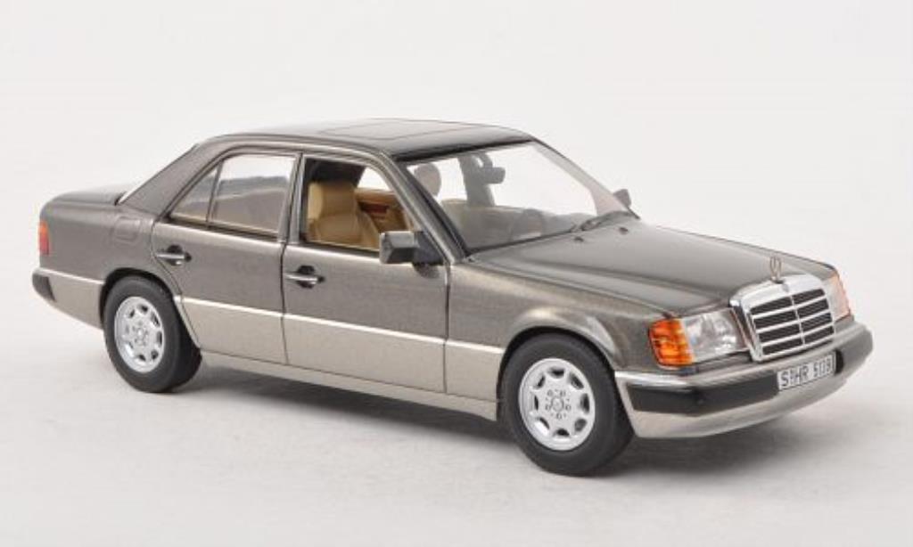 Mercedes 230 E 1/43 Minichamps (W124) grise/grise 1988 miniature