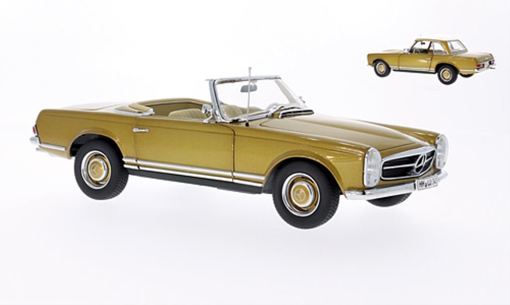 Mercedes 230 SL 1/18 Norev Hardtop gold 1963 miniature