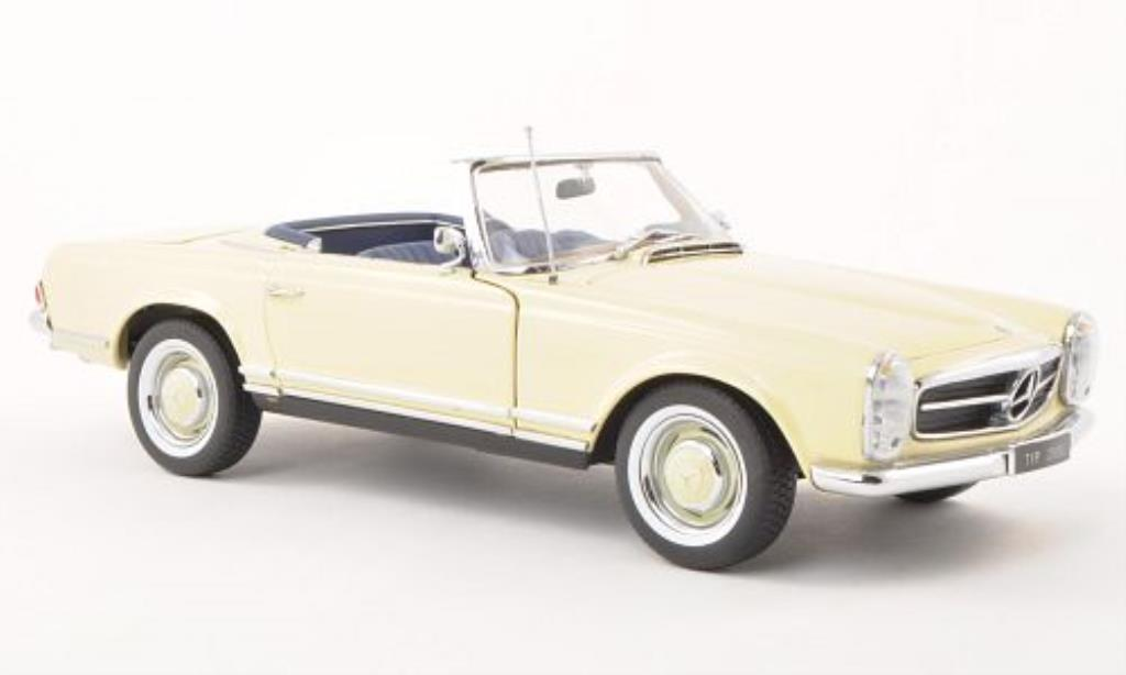 Mercedes 230 SL 1/18 Norev (W113) beige Prasentation IAA 1963 miniature