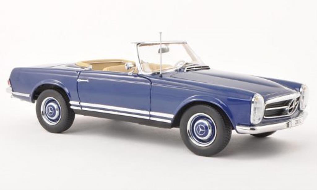 Mercedes 230 SL 1/18 Norev (W113) bleu 1963 miniature