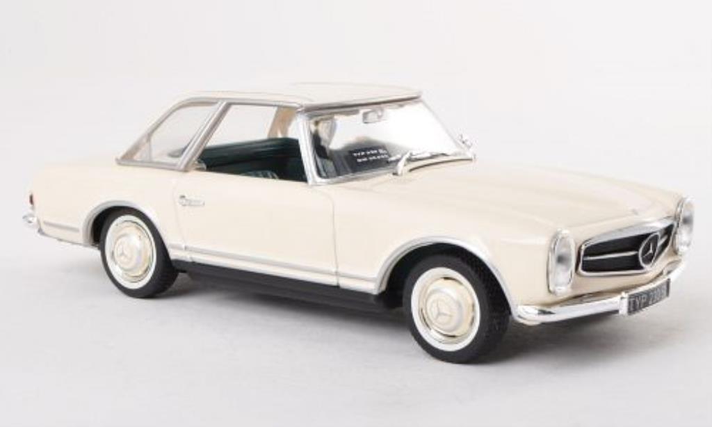 Mercedes 230 SL 1/43 Minichamps (W113) Hardtop blanche IAA 1963 miniature