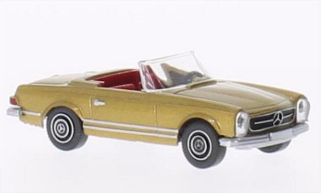 Mercedes 250 1/87 Wiking SL Cabriolet gold miniature