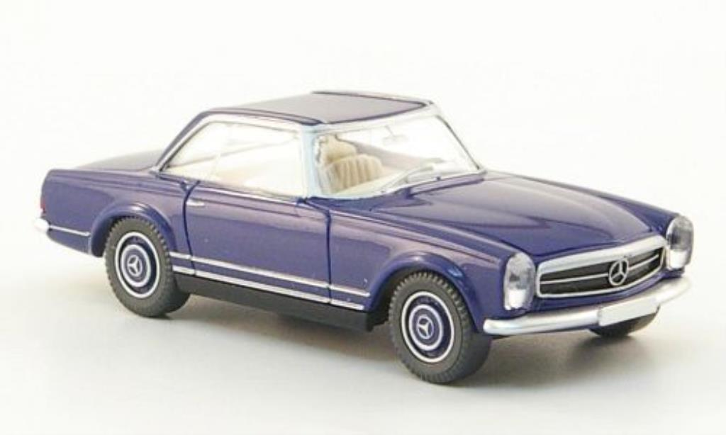 Mercedes 250 1/87 Wiking SL Coupe (W113) bleu miniature