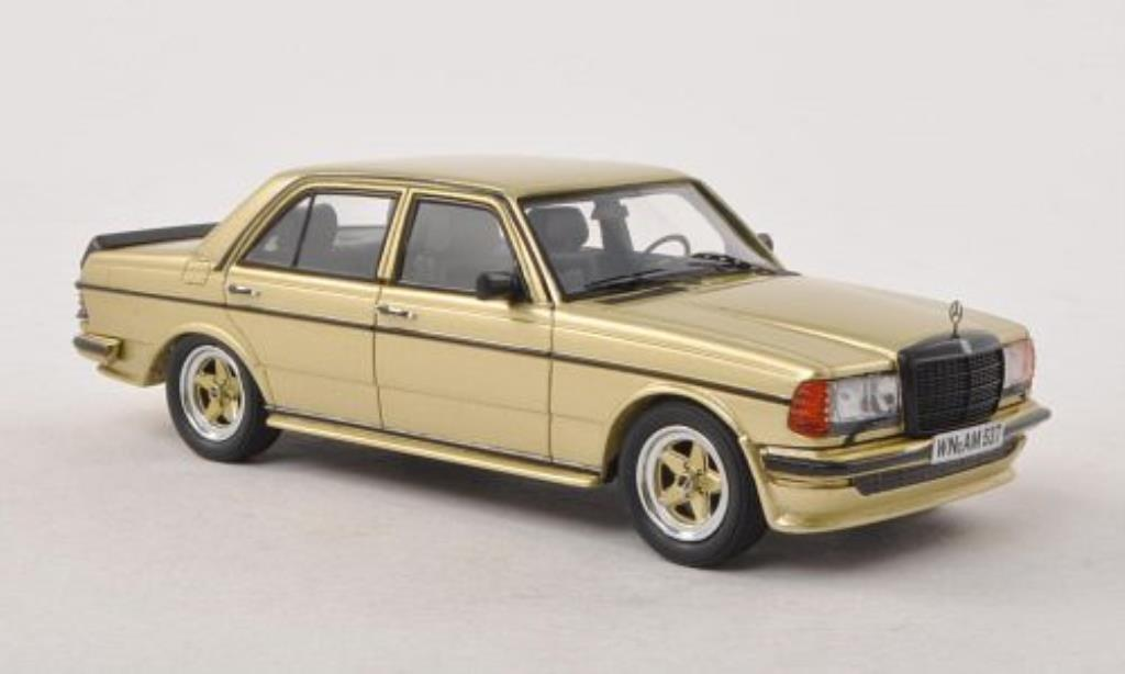 Mercedes 280 1/43 Neo E (W123) AMG gold 1980 miniature