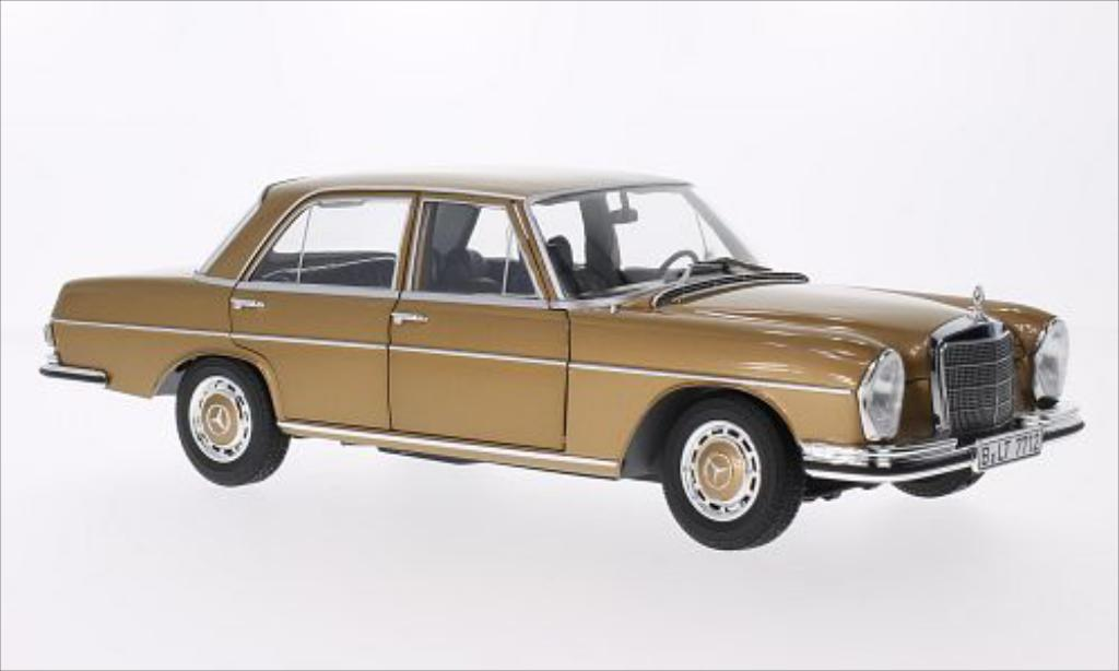 Mercedes 280 SE 1/18 Norev (W108) gold 1968 miniature
