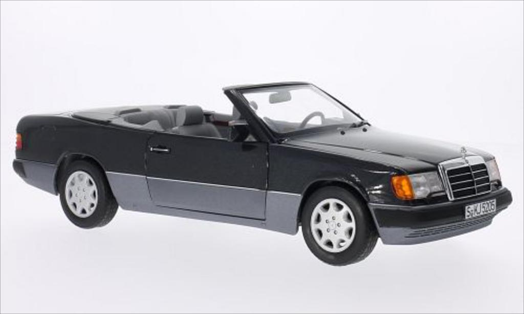 Mercedes 300 1/18 Norev CE-24 (A124) Cabriole metallic-negro miniatura