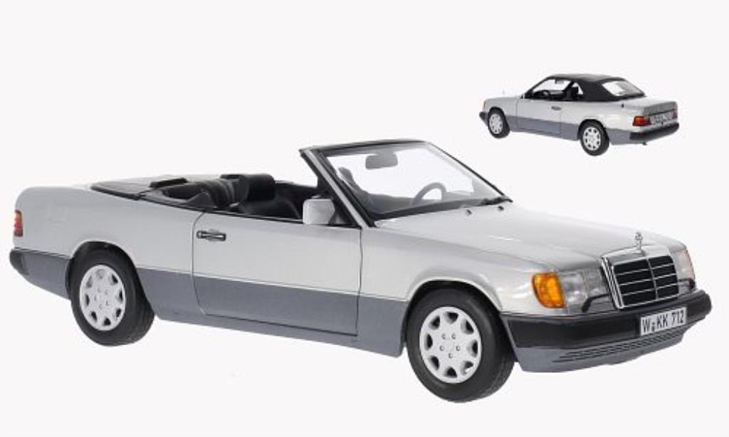 Mercedes 300 1/18 Norev CE-24 Cabriolet grise 1989 miniature