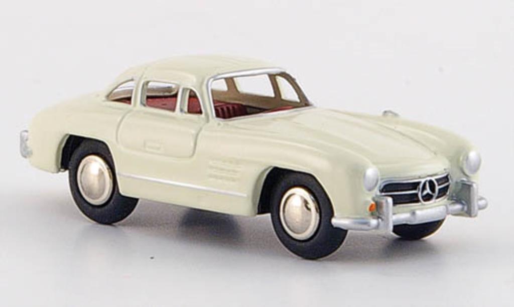 Mercedes 300 SL 1/87 Bub SL creme-blanche rougees Interieur 1954 miniature