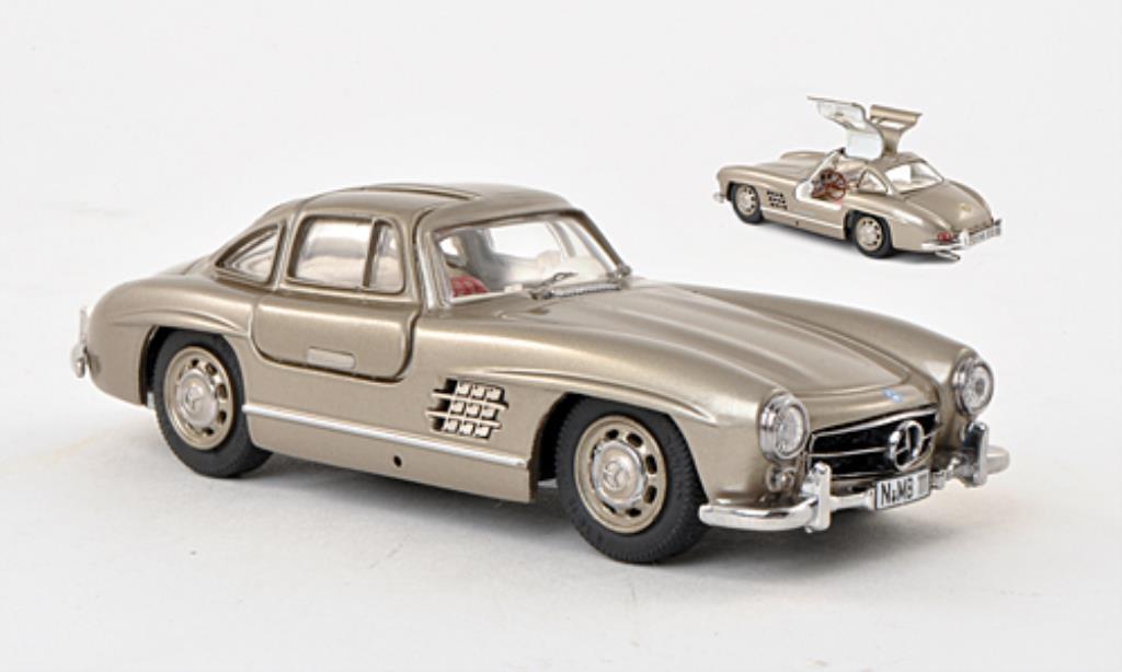 Mercedes 300 SL 1/43 Schuco beige-grise miniature