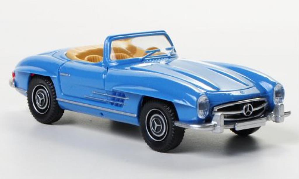 Mercedes 300 SL 1/87 Wiking Roadster bleu miniature