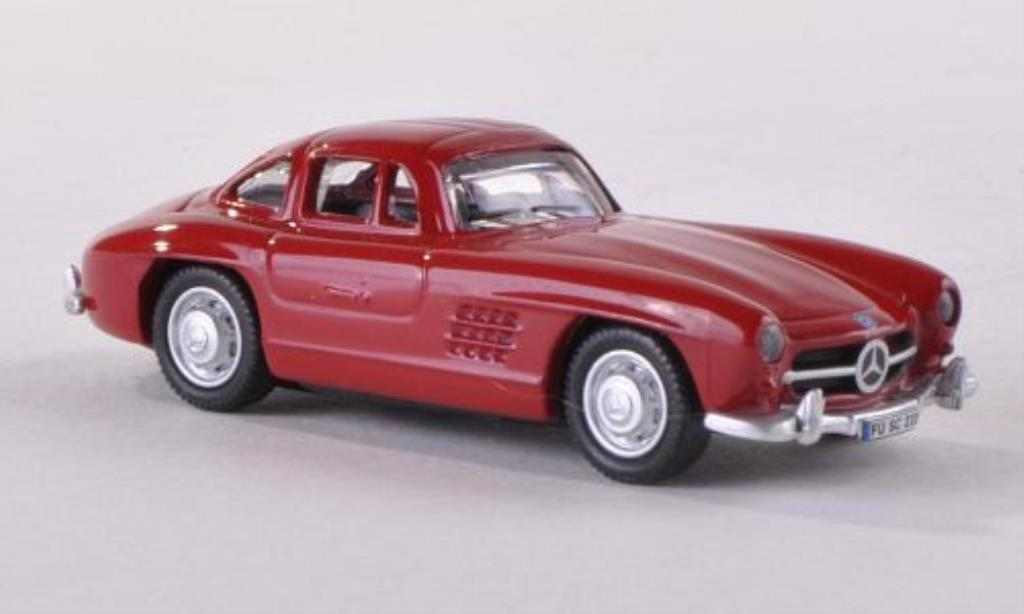 Mercedes 300 SL 1/87 Schuco rouge miniature
